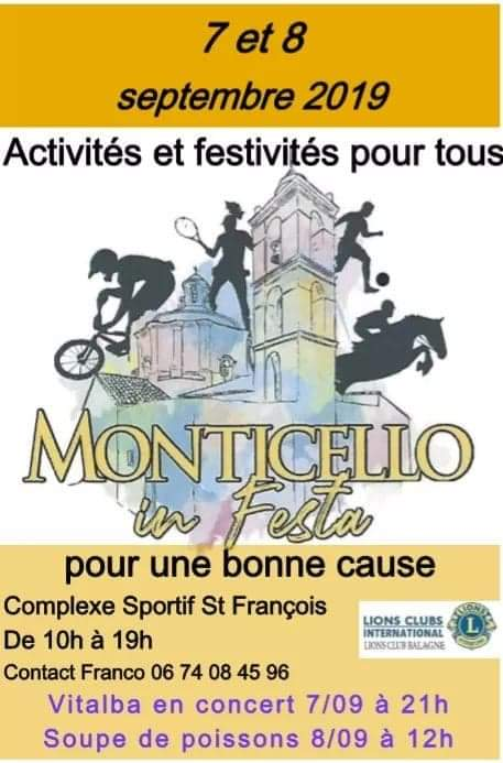 """Munticellu in festa"" ce week-end au profit d'Evan"