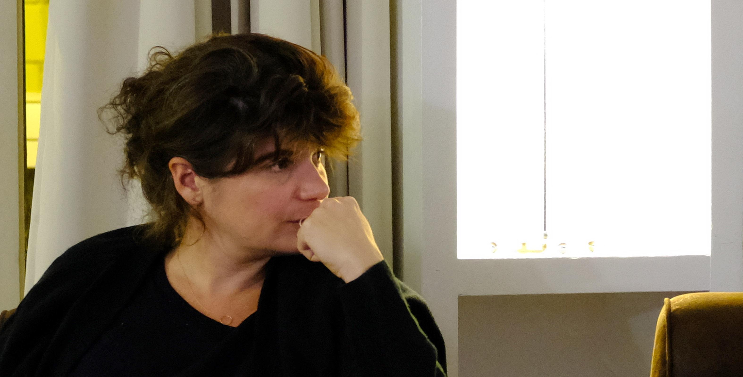 La productrice Marie-Ange Luciani à Bastia à l'occasion de la projection de C'est ça l'amour de Claire Burger