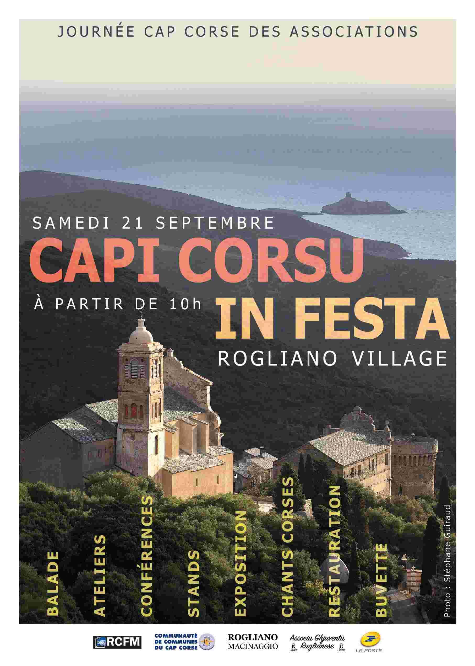 Capi Corsu In Festa : La journée des associations vous donne rendez-vous à Rogliano le 21 septembre