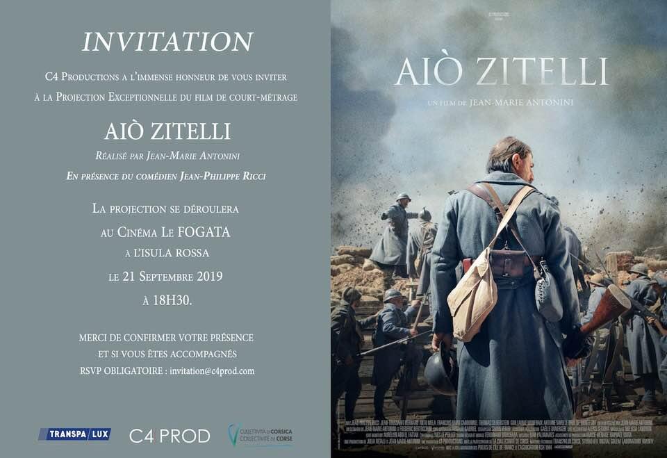 """Le film """"Aiò Zitelli"""" au cinéma Fogata en Présence du comédien Jean-Philippe Ricci"""