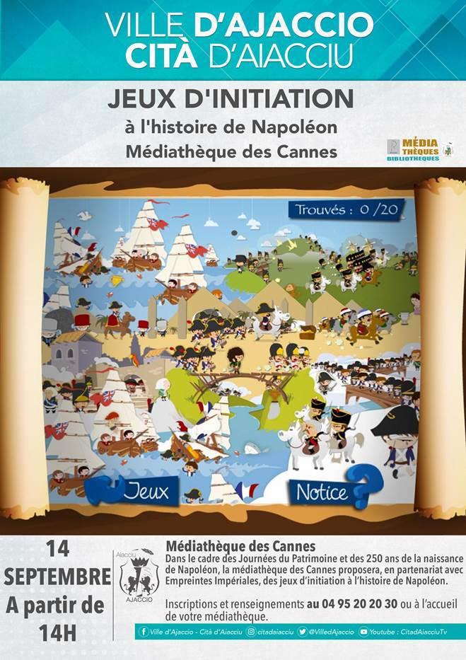 Des jeux sur l'histoire napoléonienne à la médiathèque des Cannes