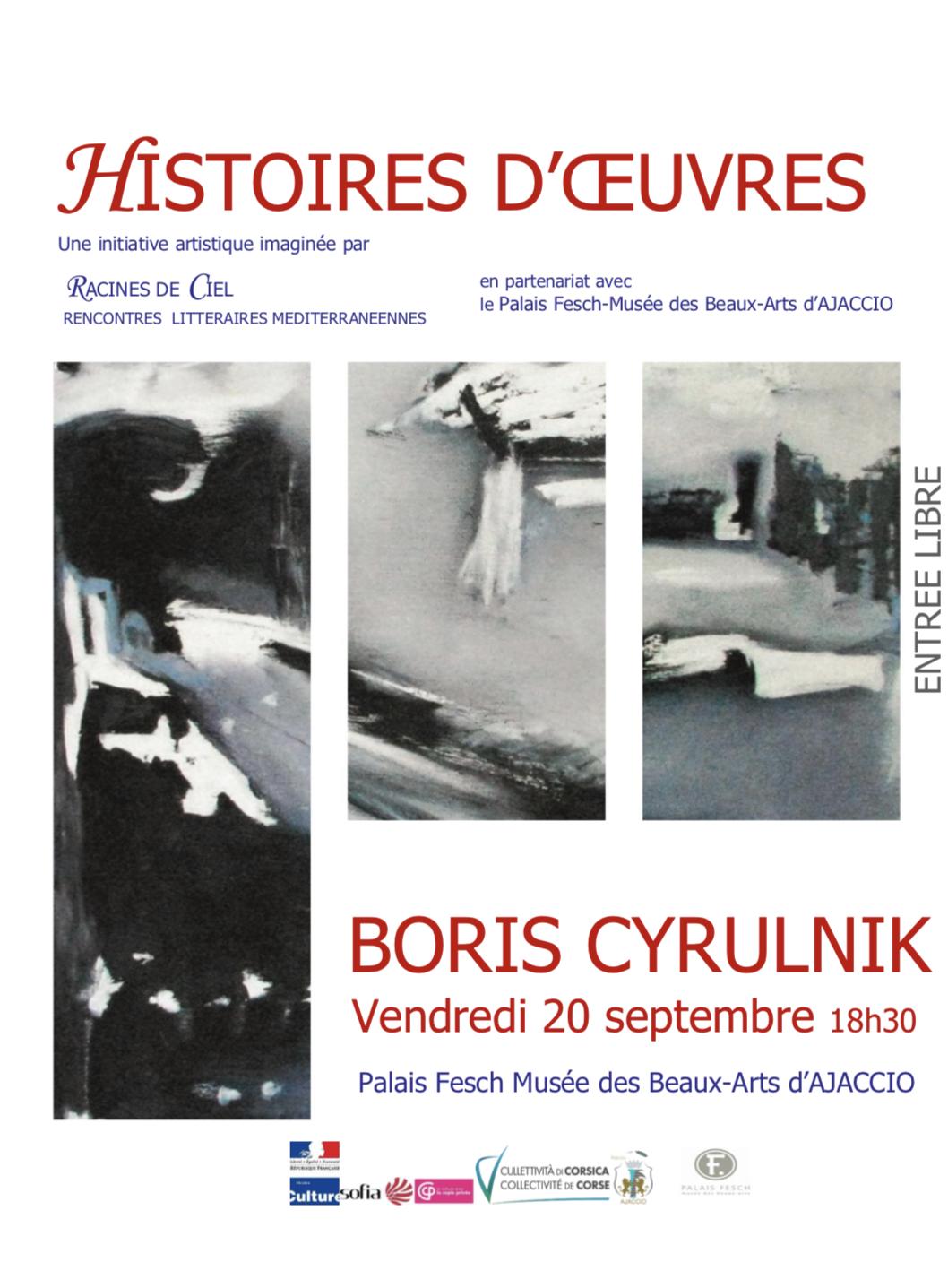 Artistes et Résilience. Boris Cyrulnik à Ajaccio ce 20 septembre