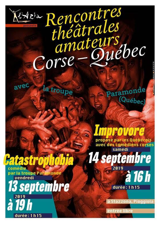 Rencontres théâtrales amateurs Corse - Quebec