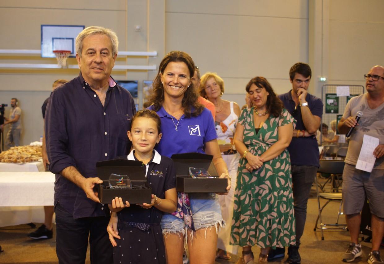 Alexandra et Sophie Santelli du CNC récompensées par Ange Santini