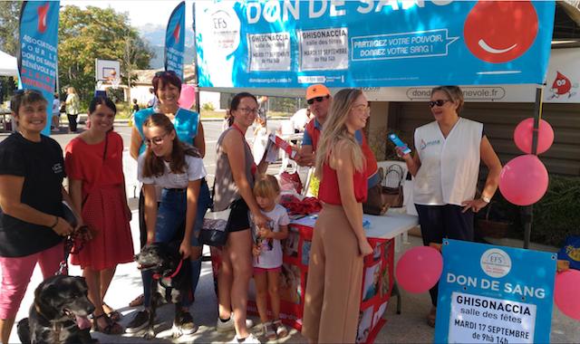 Une belle réussite pour le stand de l'ADSBPO au forum des associations de 2019 à Ghisonaccia