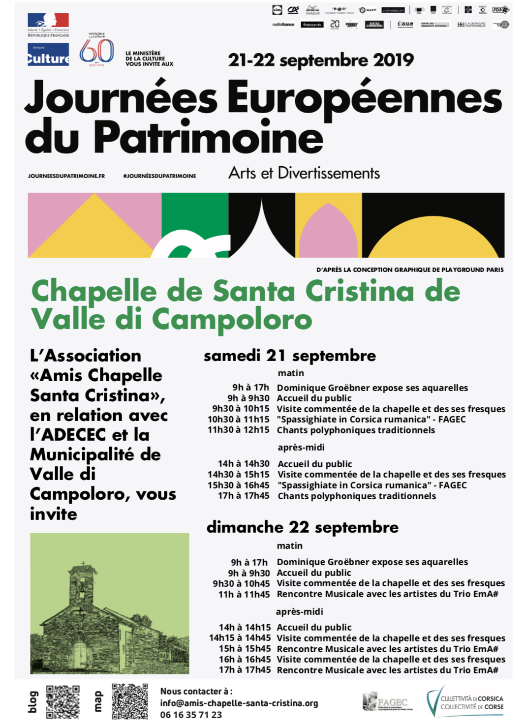"""Célébrez les Journées européennes du patrimoine """"Arts & divertissements"""" à la Chapelle Santa Cristina di Campulori"""