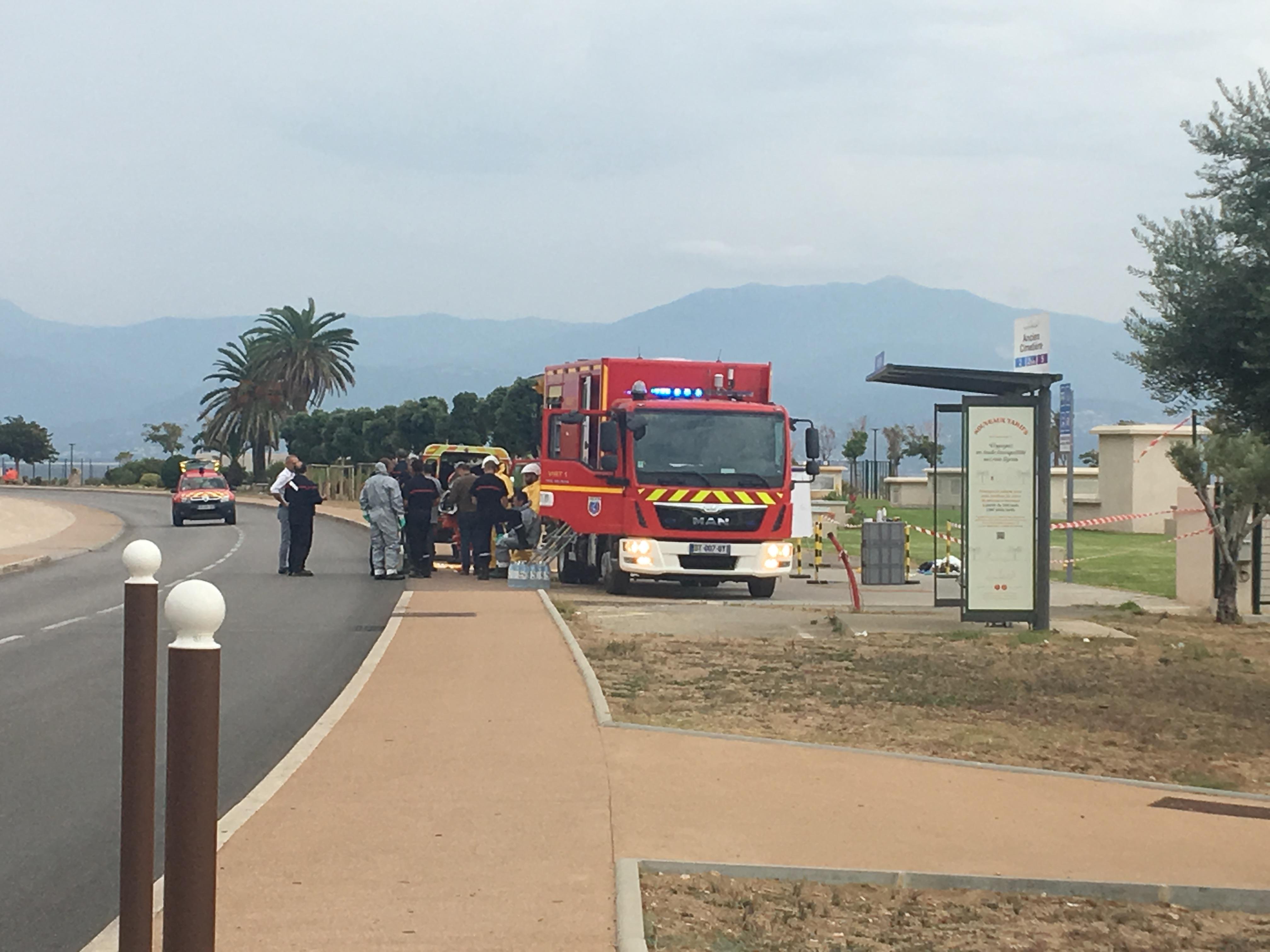 Les secours sont sur place (Photo Michel Luccioni)