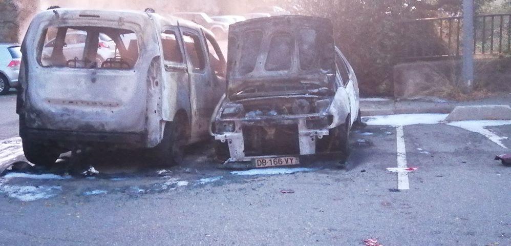 Bastia : Encore des voitures brûlées à Montesoru