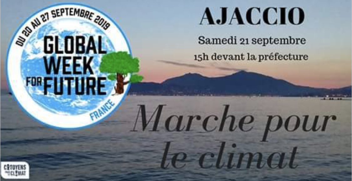 21 septembre 2019 : Ajaccio marche pour le climat