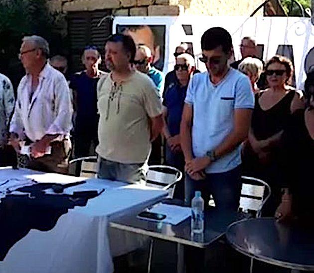 Une minute de silence a été observée en mémoire de Massimu Susini
