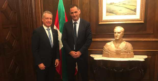 Le président du Conseil exécutif de Corse, Gilles Simeoni, en déplacement au Pays basque, a eu un entretien avec le Président du Gouvernement basque, Iñigo Urkullu.