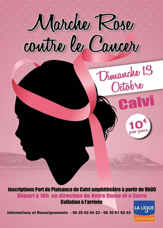 Marche rose le 13 octobre  à Calvi pour sensibiliser le grand public au cancer du sein