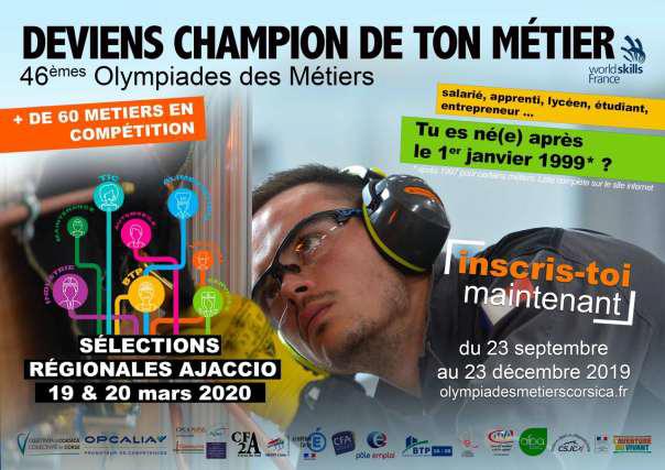 Olympiades des Métiers : l'Appel à candidature pour l'édition 2020 est lancé