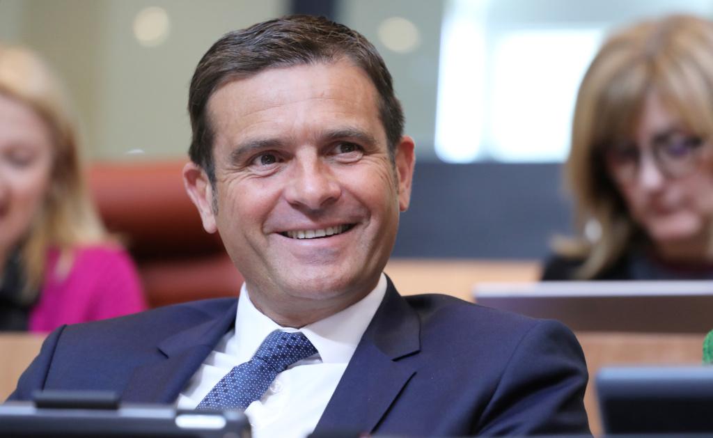 Jean-Martin Mondoloni, président du groupe Per l'Avvene à l'Assemblée de Corse, chef de file de la droite régionaliste, et candidat d'union de la droite aux élections municipales de Bastia. Photo Michel Luccioni.