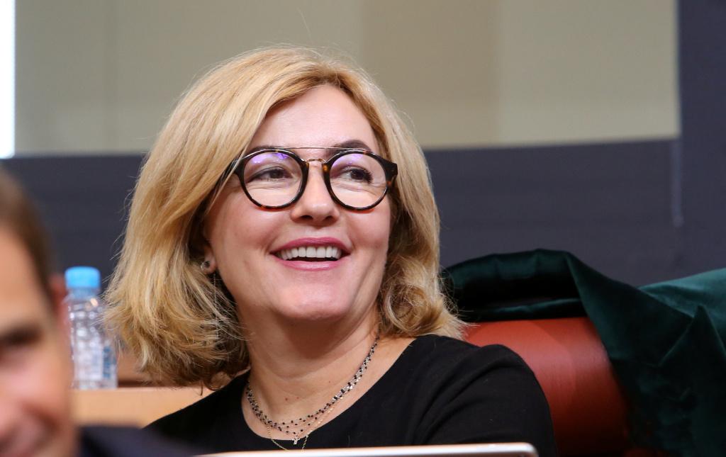 Stéphanie Grimaldi, conseillère territoriale du groupe La Corse dans la République, actuelle maire de La Porta, et candidate à Bastia. Photo Michel Luccioni.