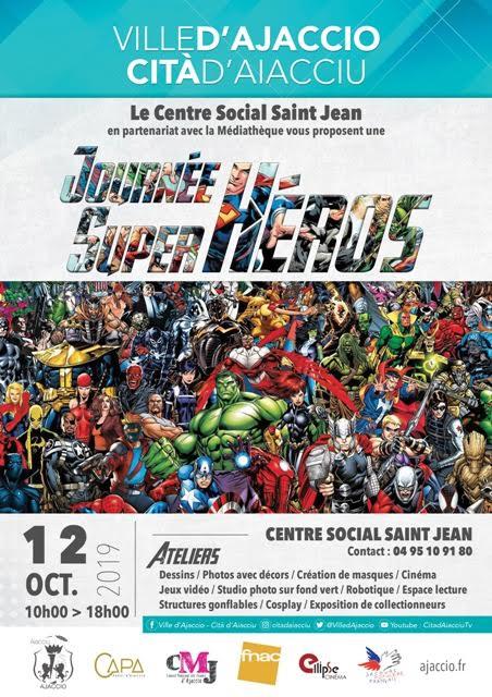 Le 12 octobre la médiathèque Saint-Jean organise la journée des supers héros