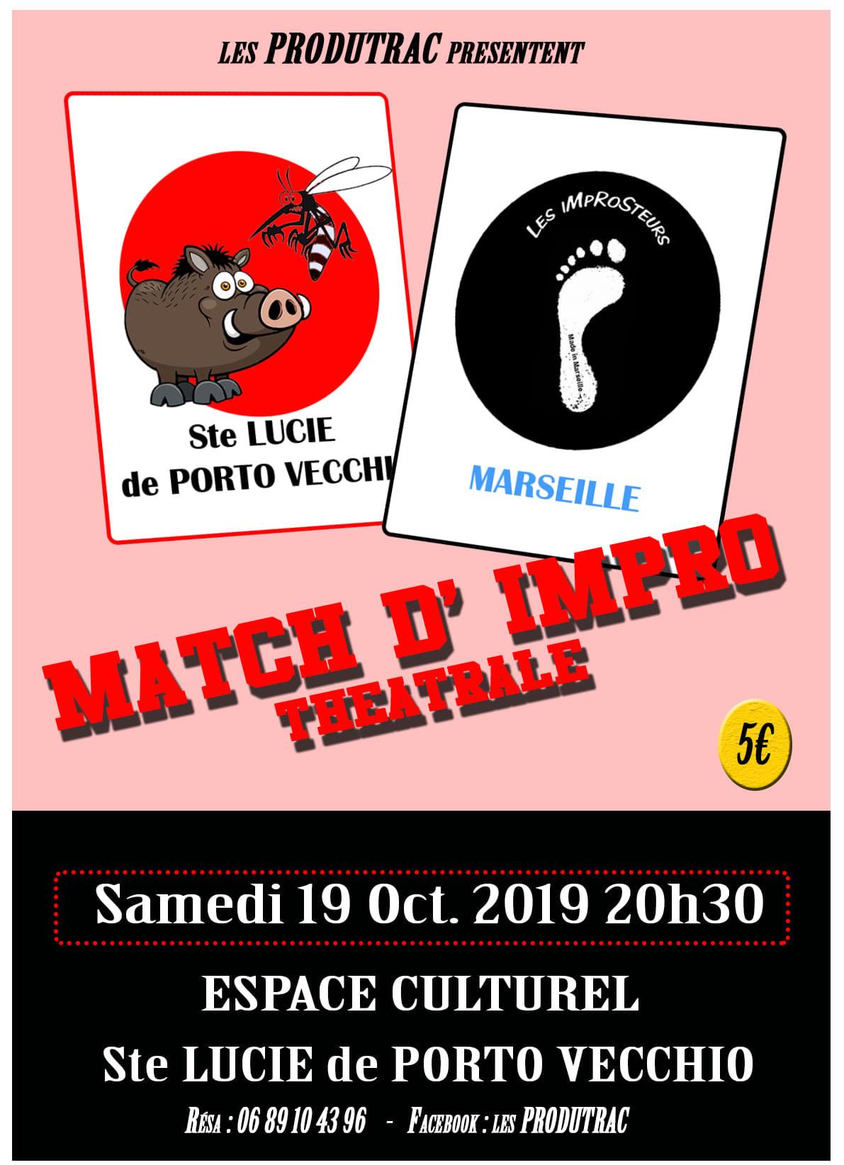 Match d'impro théâtrale à Sainte Lucie de Porto Vecchio