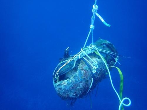 L'Orion détruit un engin historique au large du Cap Corse