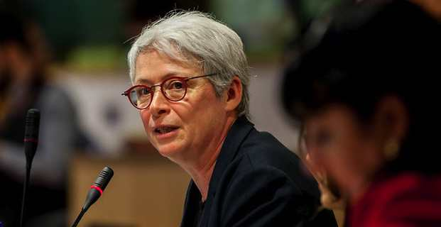 Isabelle Boudineau, vice-présidente en charge de l'Europe de la région Nouvelle Aquitaine, membre du Comité européen des régions (COR) et présidente de la COTER (Commission de la politique de cohésion territoriale et du budget) du Comité des régions.