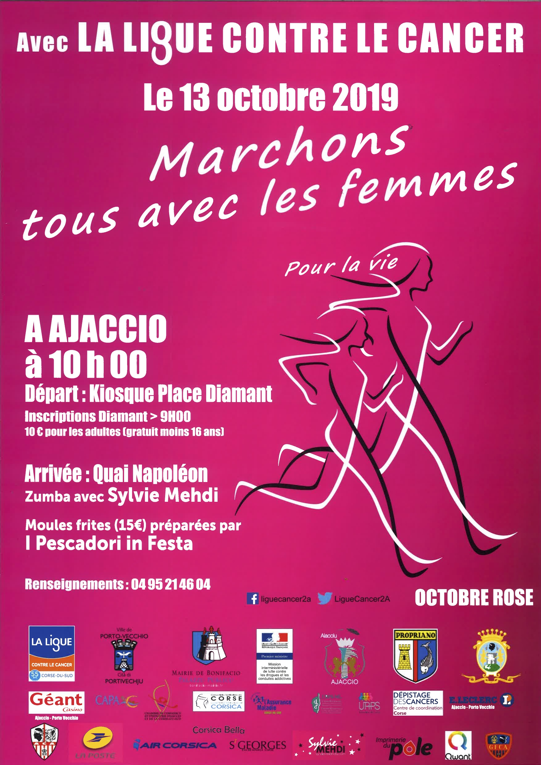 Cancer du sein : participez aux marches roses ce weekend en Corse