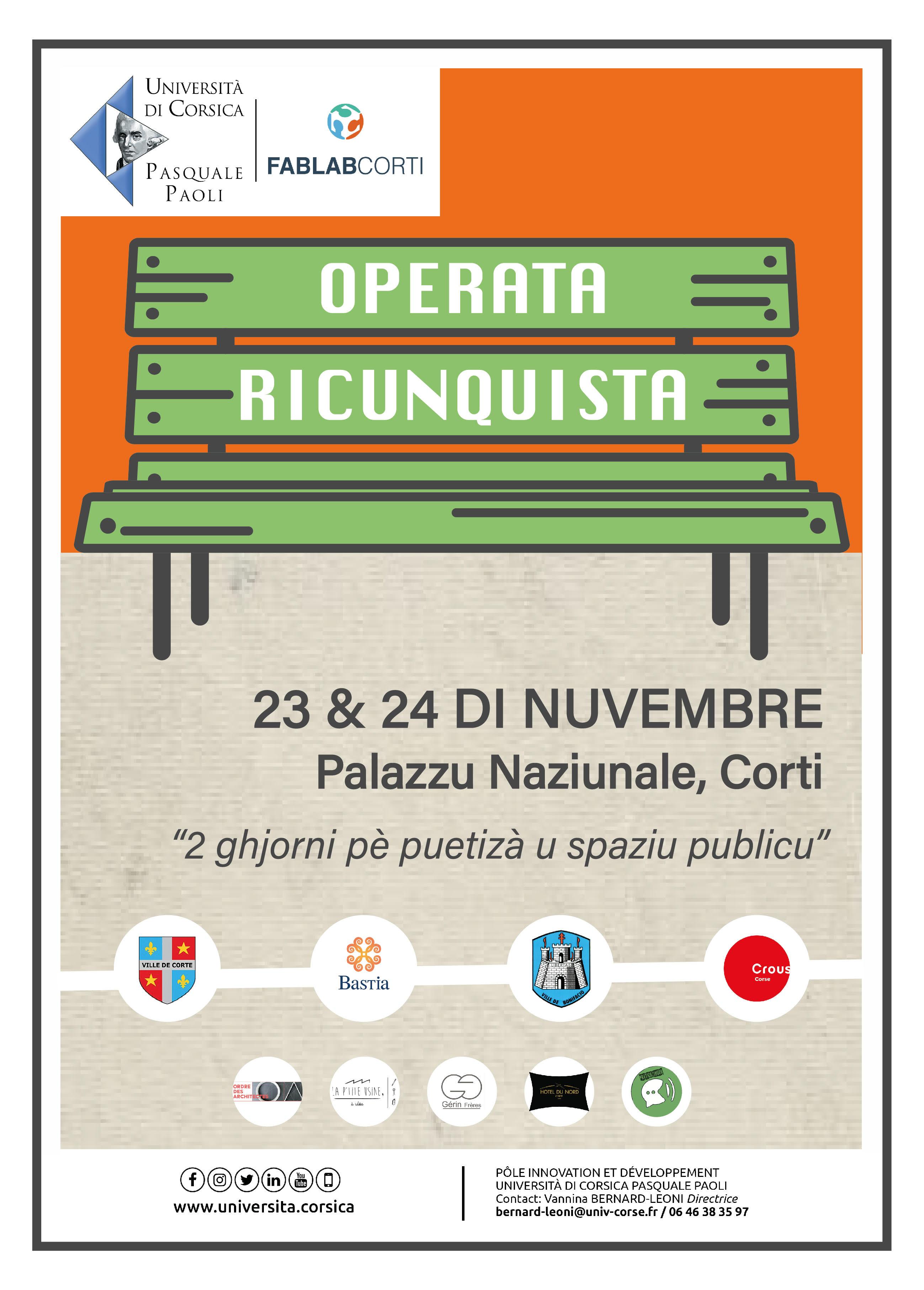Operata Ricunquista in Corti : Lancement des inscriptions pour un week-end de création collaborative