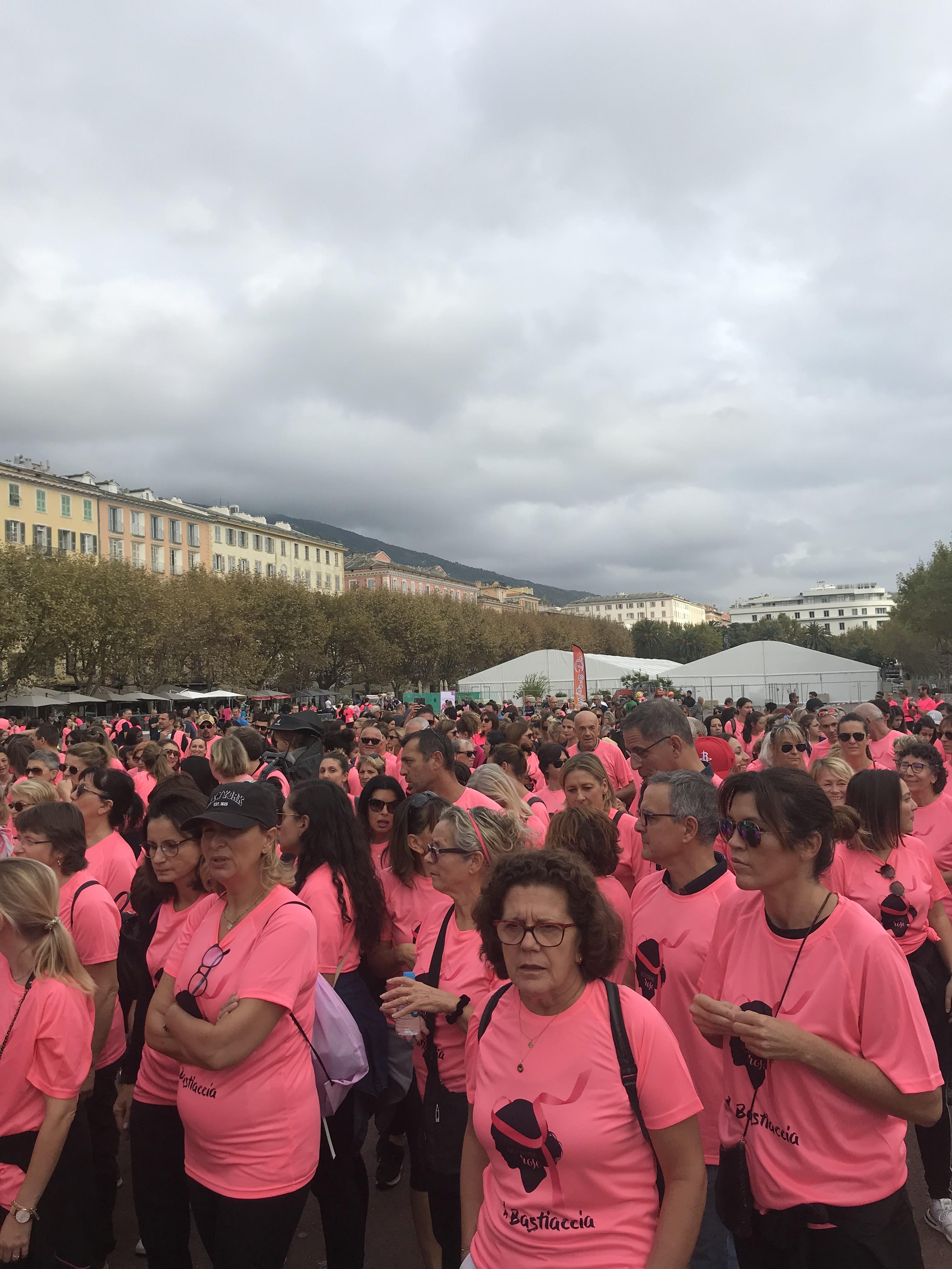 Plus de 1000 participants, en rose, pour l'édition 2019 de A Bastiaccia