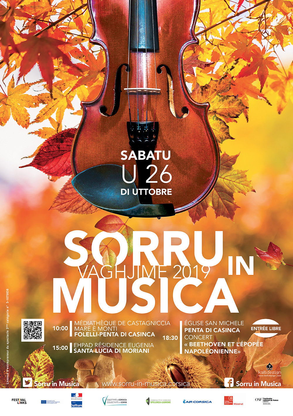 Plaine Orientale : Le programme de Sorru in Musica Vaghjime