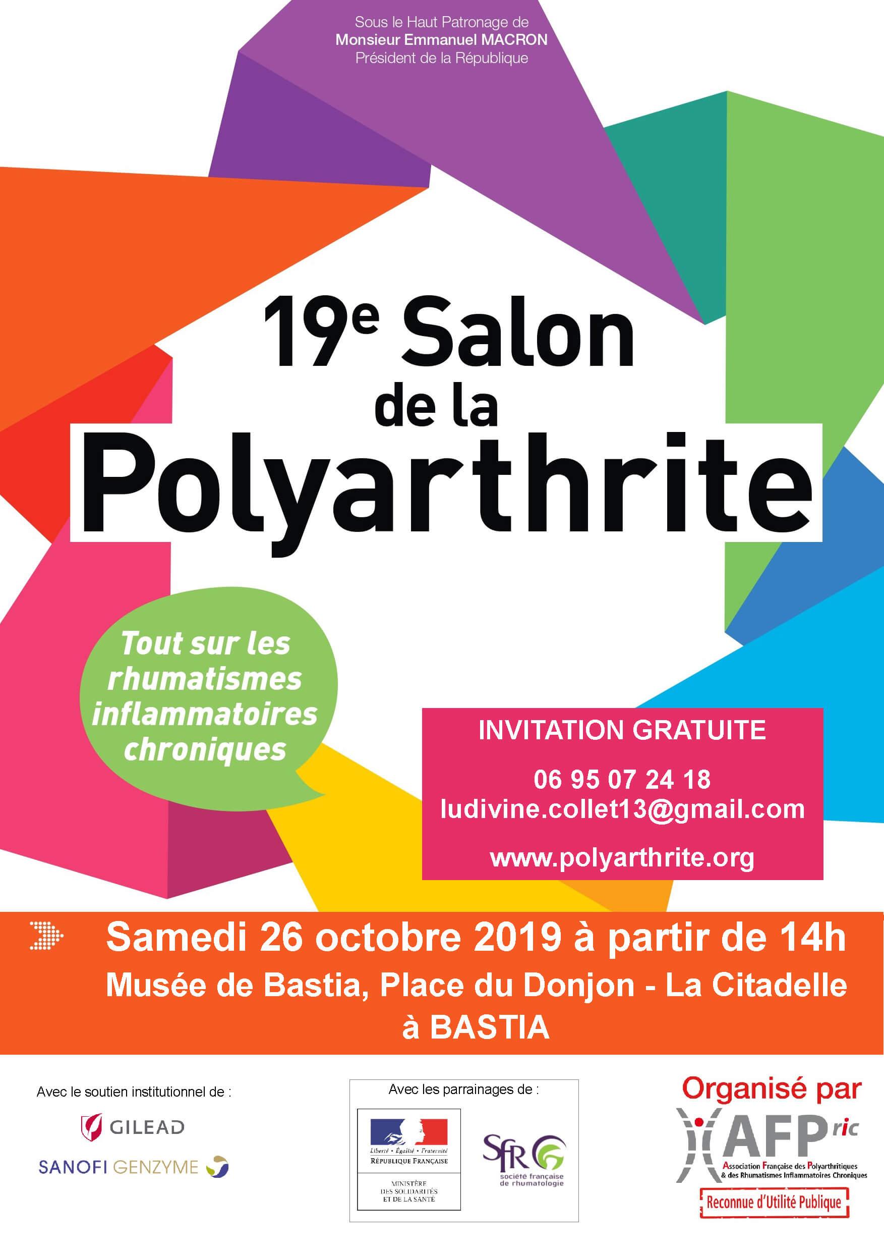 Polyarthrite rhumatoïde et les maladies articulaires : informez-vous au 19e salon de Bastia