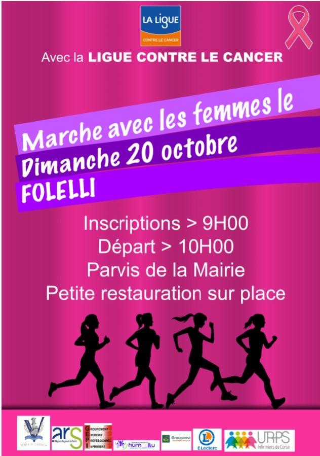 Marche rose le 20 octobre à  Folelli pour sensibiliser au dépistage du cancer du sein