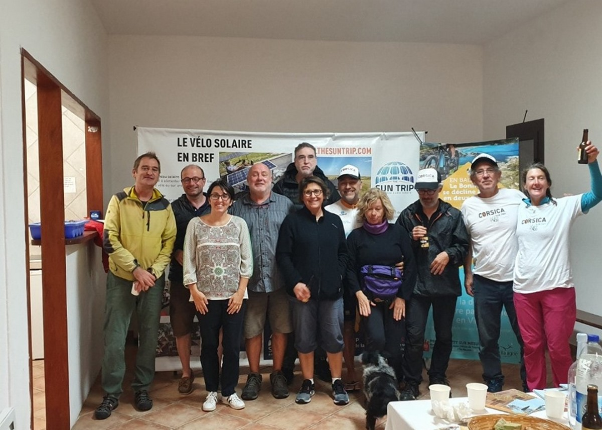 Les ambassadeurs du Corsica Sun Trip 2019 accueillis à Calenzana