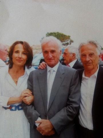 Mariage avec Caroline à l'Ile-Rousse en 2010 avec à droite son ami Angelo Allegrini