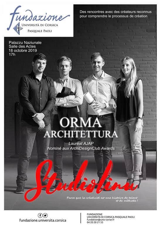 Corti : Studiolinu accueille Orma Architettura ce 18 octobre