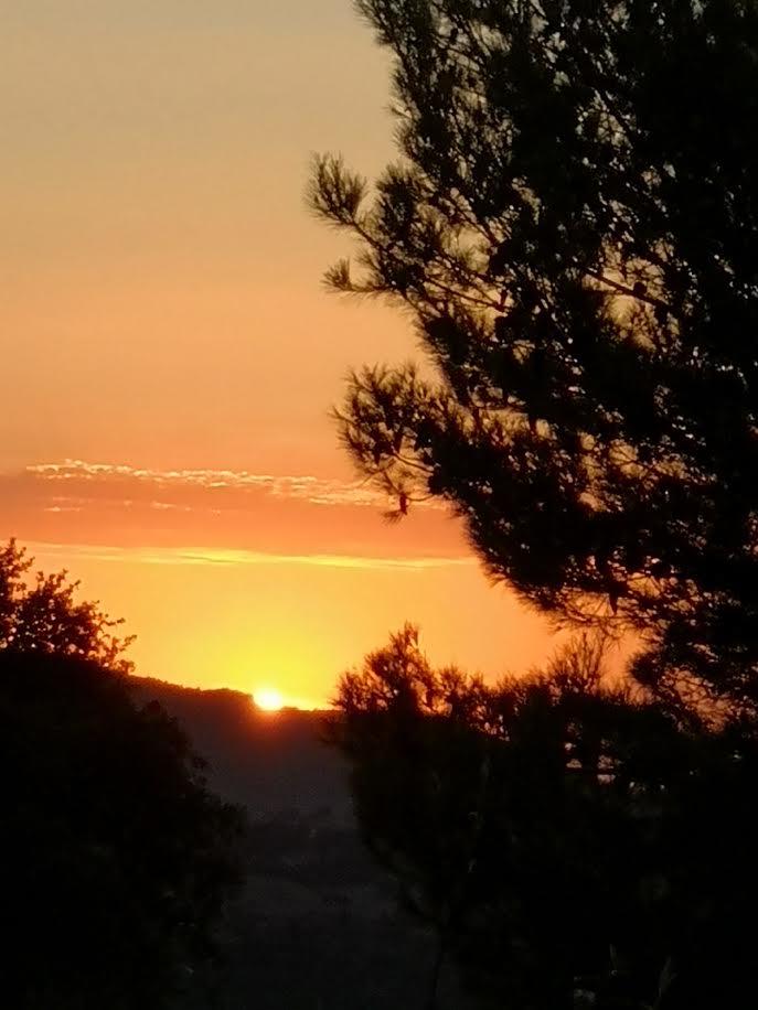 La photo du jour : coucher de soleil dans la plaine de Cuttoli