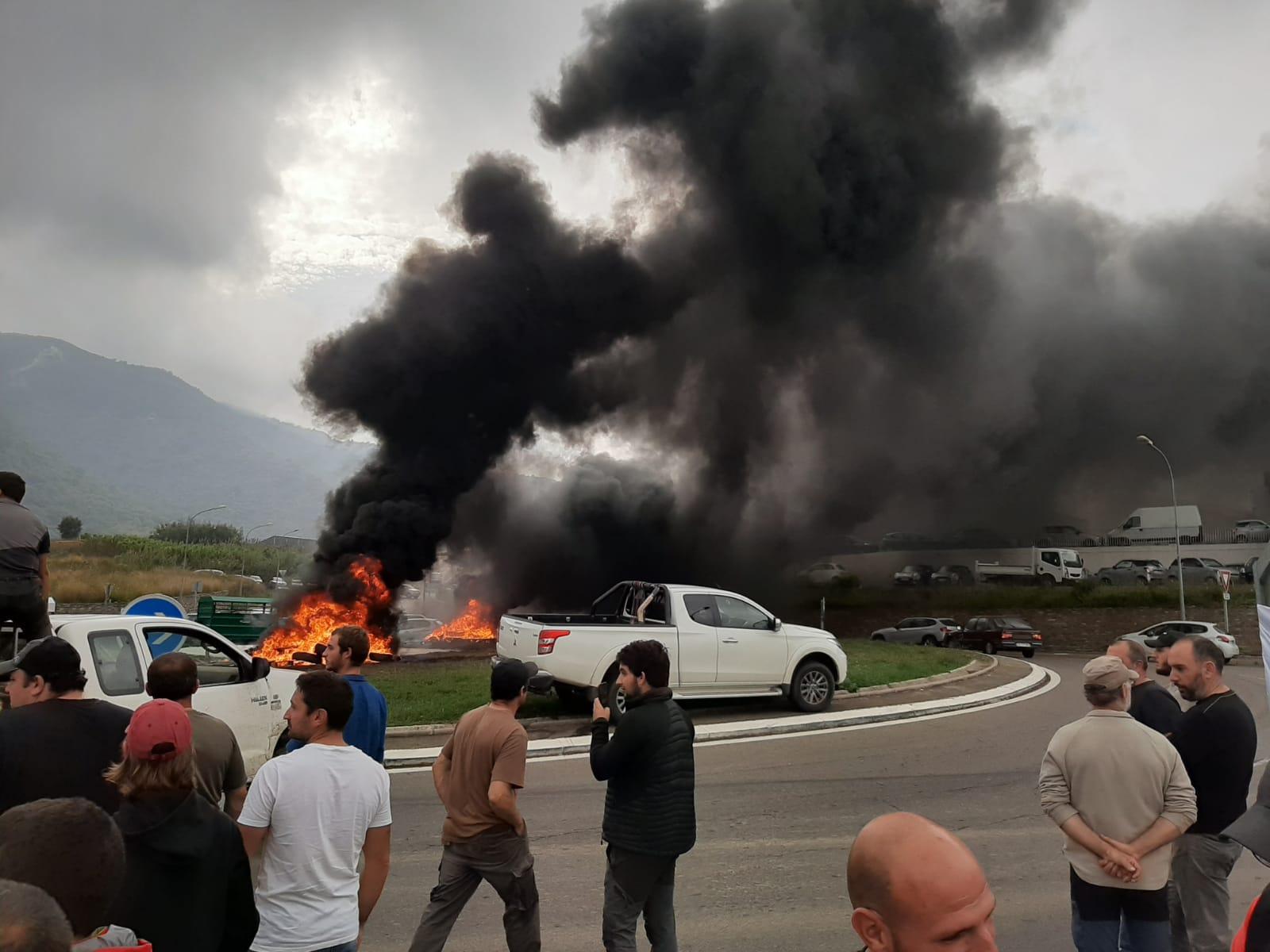 Les agriculteurs manifestent à Casamozza : c'est le début de « la colère »