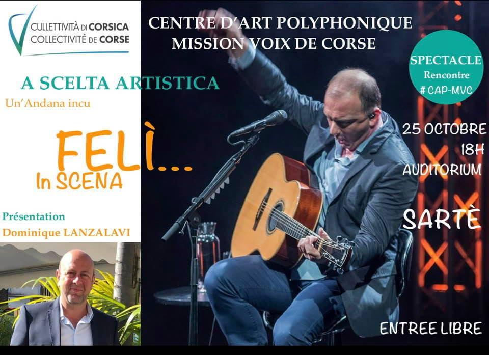 Centre d'Art Polyphonique de Sartè : Une rencontre avec Feli ce vendredi