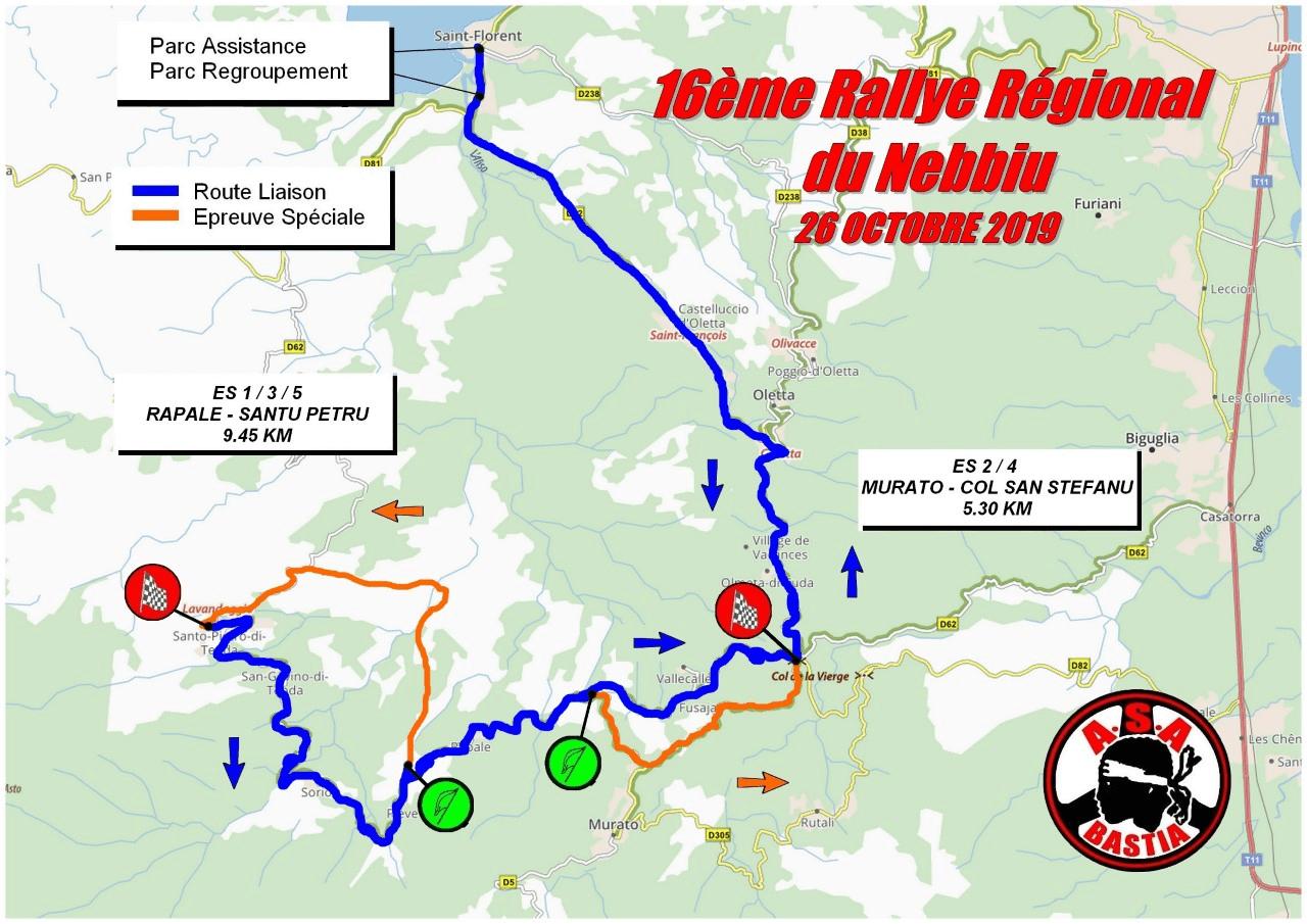 Le tracé du rallye