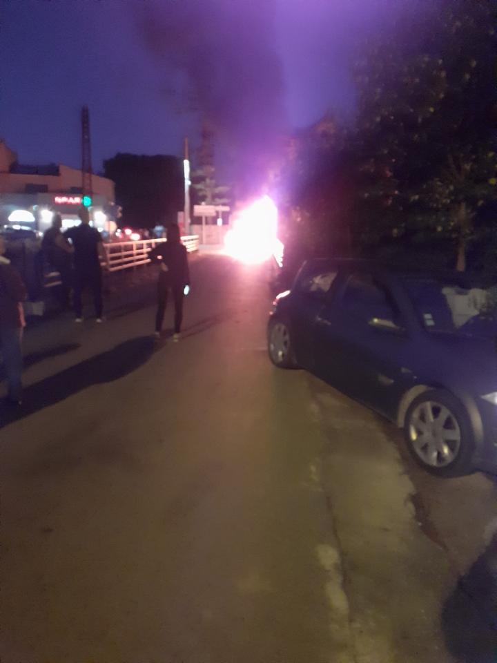Véhicule en feu à Calenzana