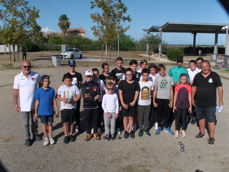 L'école de pétanque de Borgo