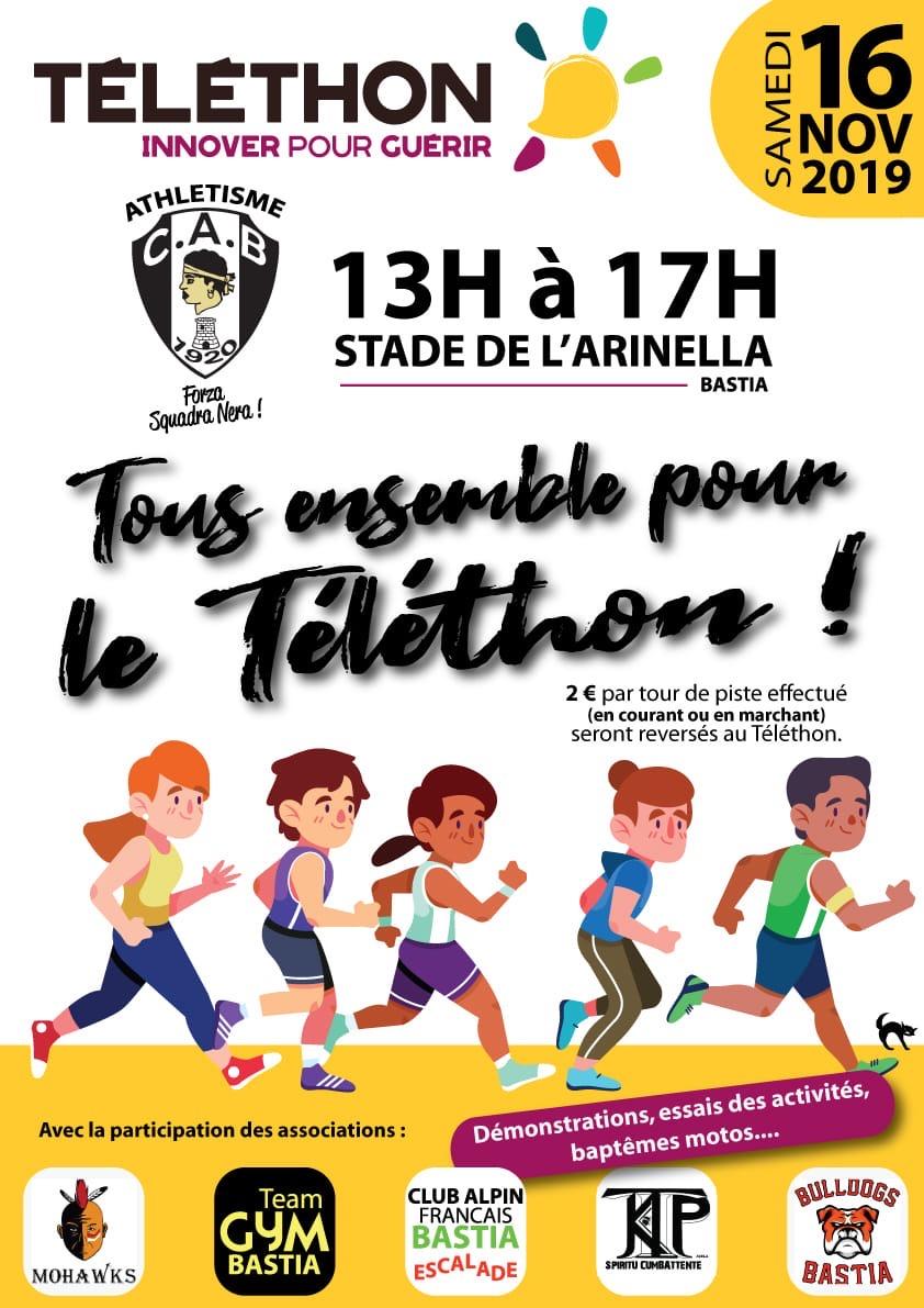 Tous ensemble pour le Téléthon le 16 novembre à Bastia