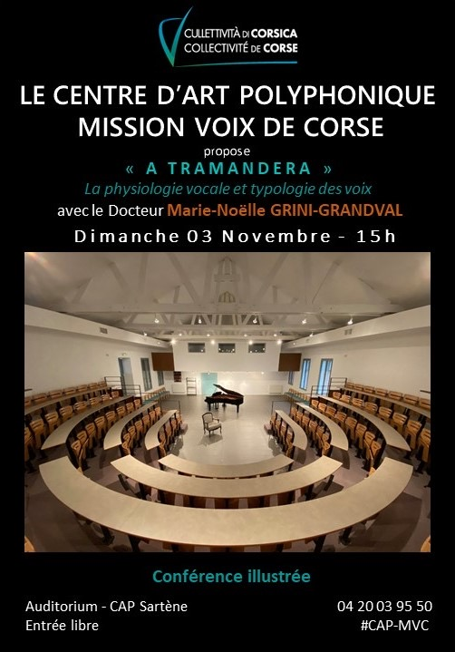 Sarté : A Tramandera en conférence ce dimanche