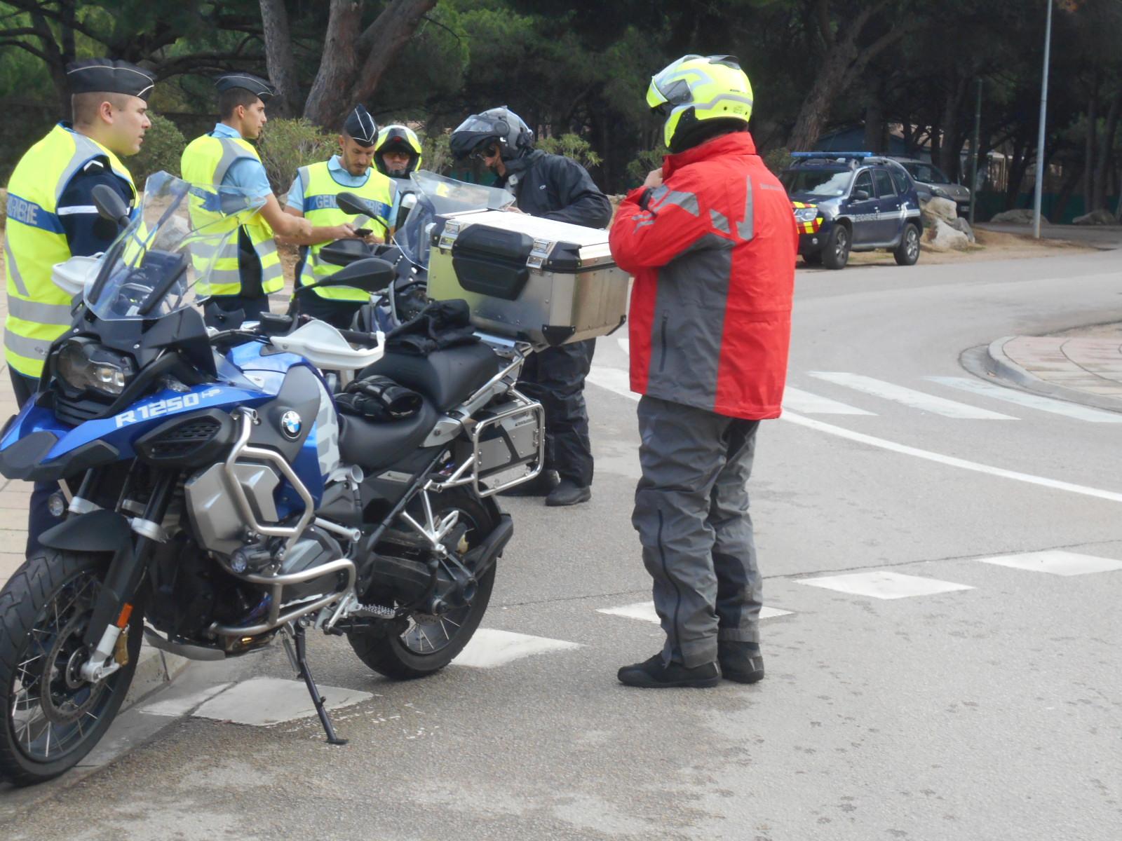 Un point de contrôle pour les motards ce matin