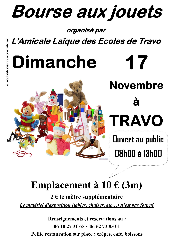 Travo : Une bourse aux jouets dimanche 17 novembre