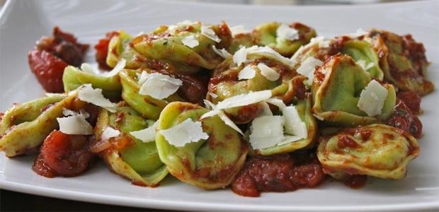 A Table : tortellini au brocciu et aux blettes
