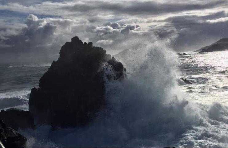 Les Sangunaires balayées par la tempête (Photos Martine Cossu)