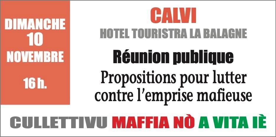 Les premières réunions du «Cullettivu Maffia Nò, a Vita Iè» cette semaine à Bastia et Calvi