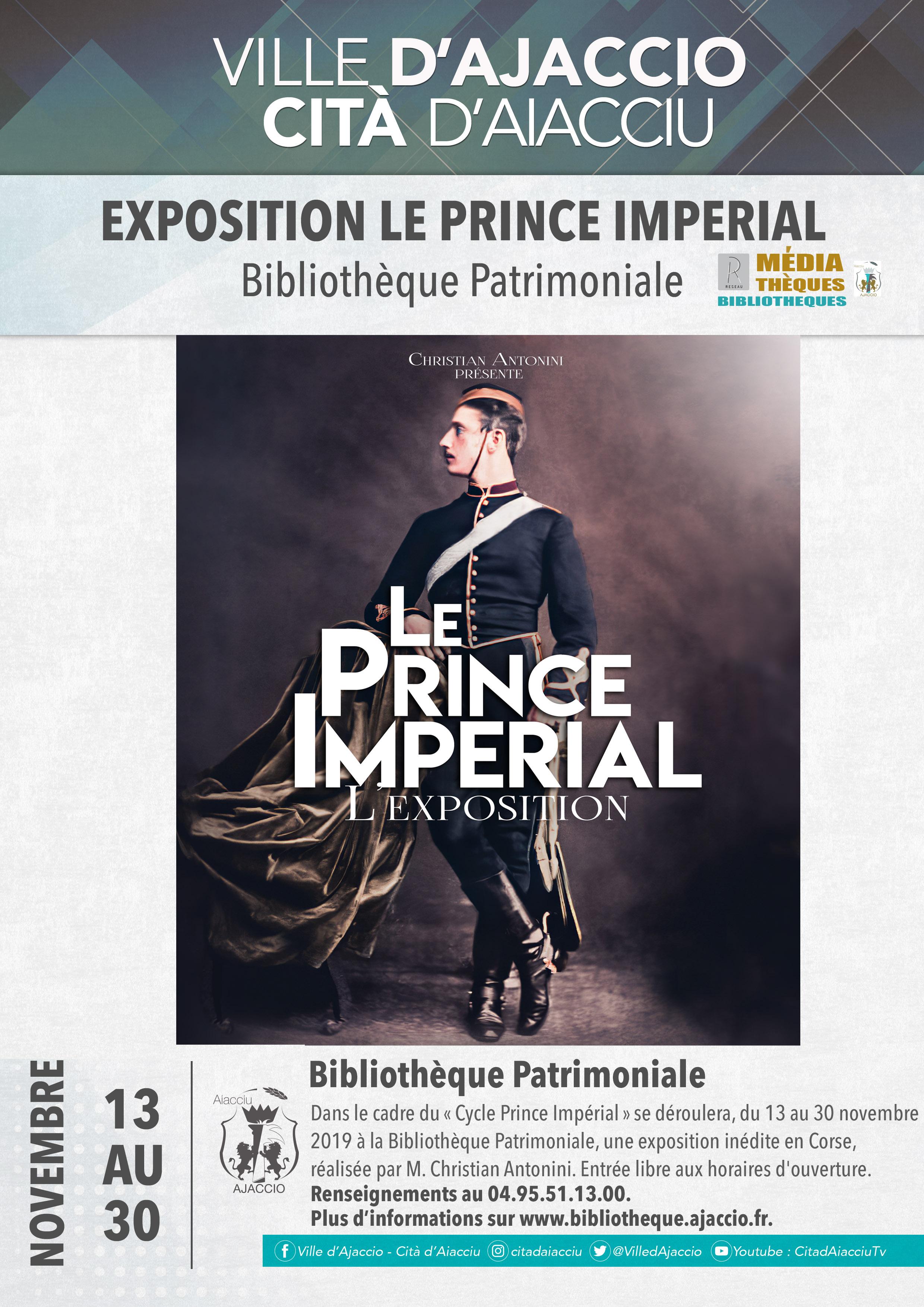 Le Prince Impérial s'expose à la Bibliothèque Patrimoniale d'Ajaccio