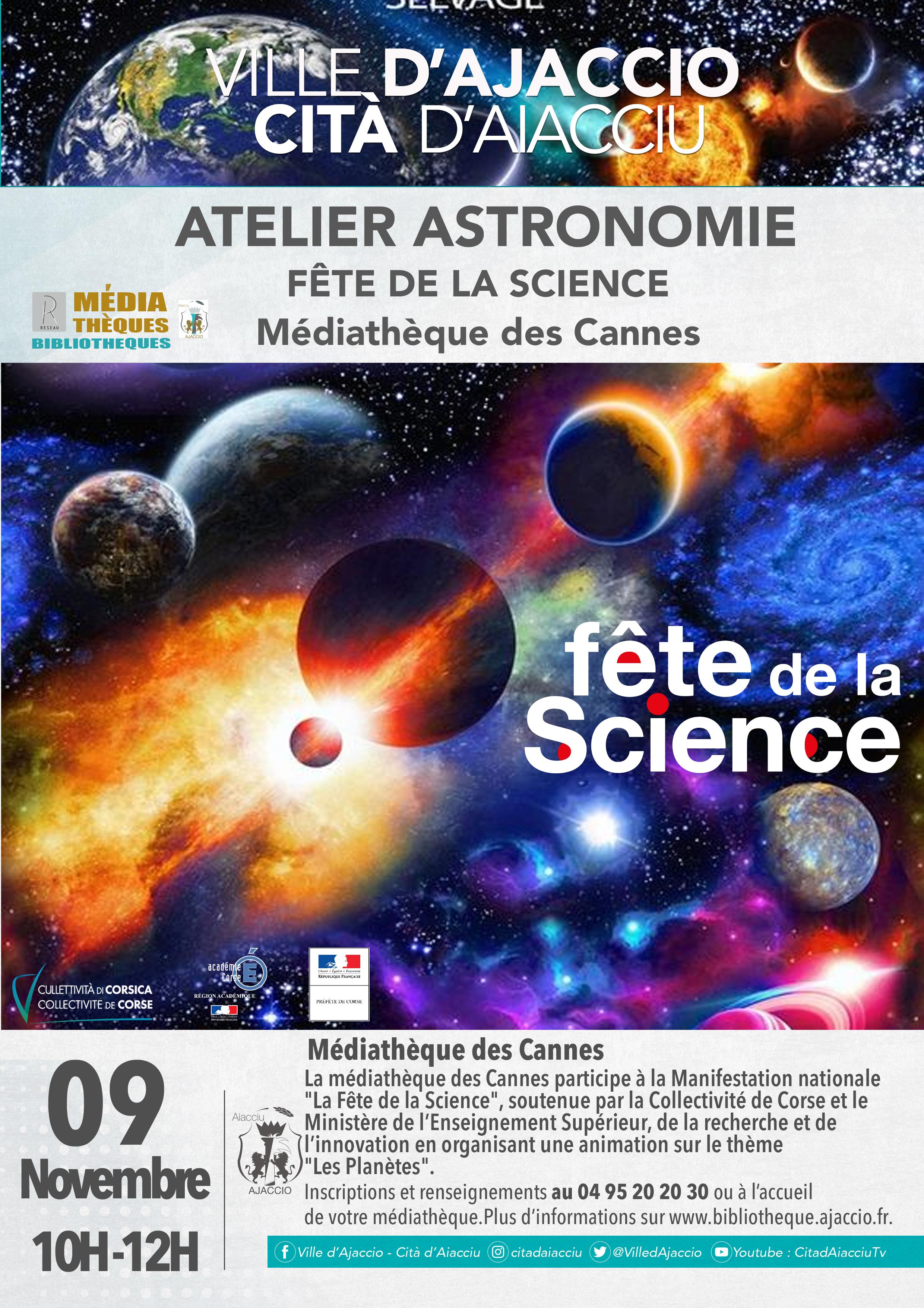 C'est la fête de la science dans les médiathèques d'Ajaccio