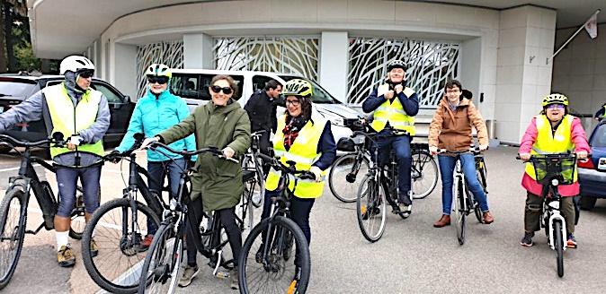 Les représentants des territoires partent en balade sur le tracé des futures pistes cyclables de la ville de Bastia