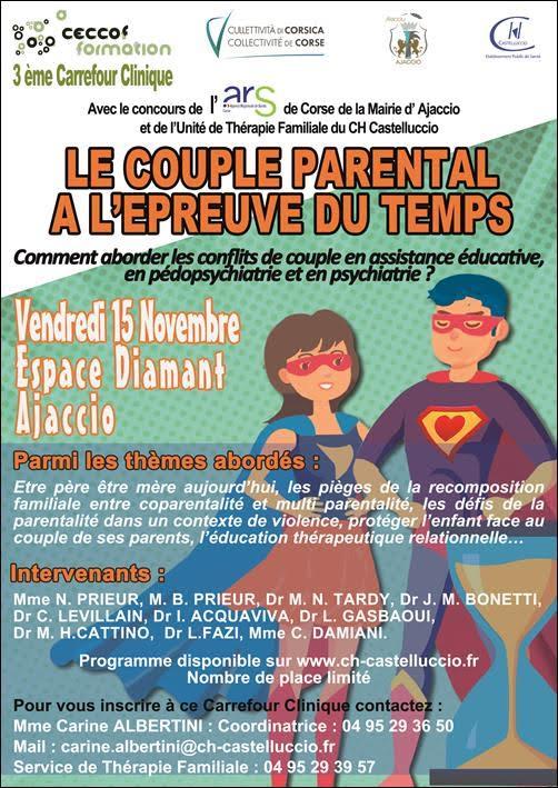 Le couple parental à l'épreuve du temps : on en parle à Ajaccio ce 15 novembre