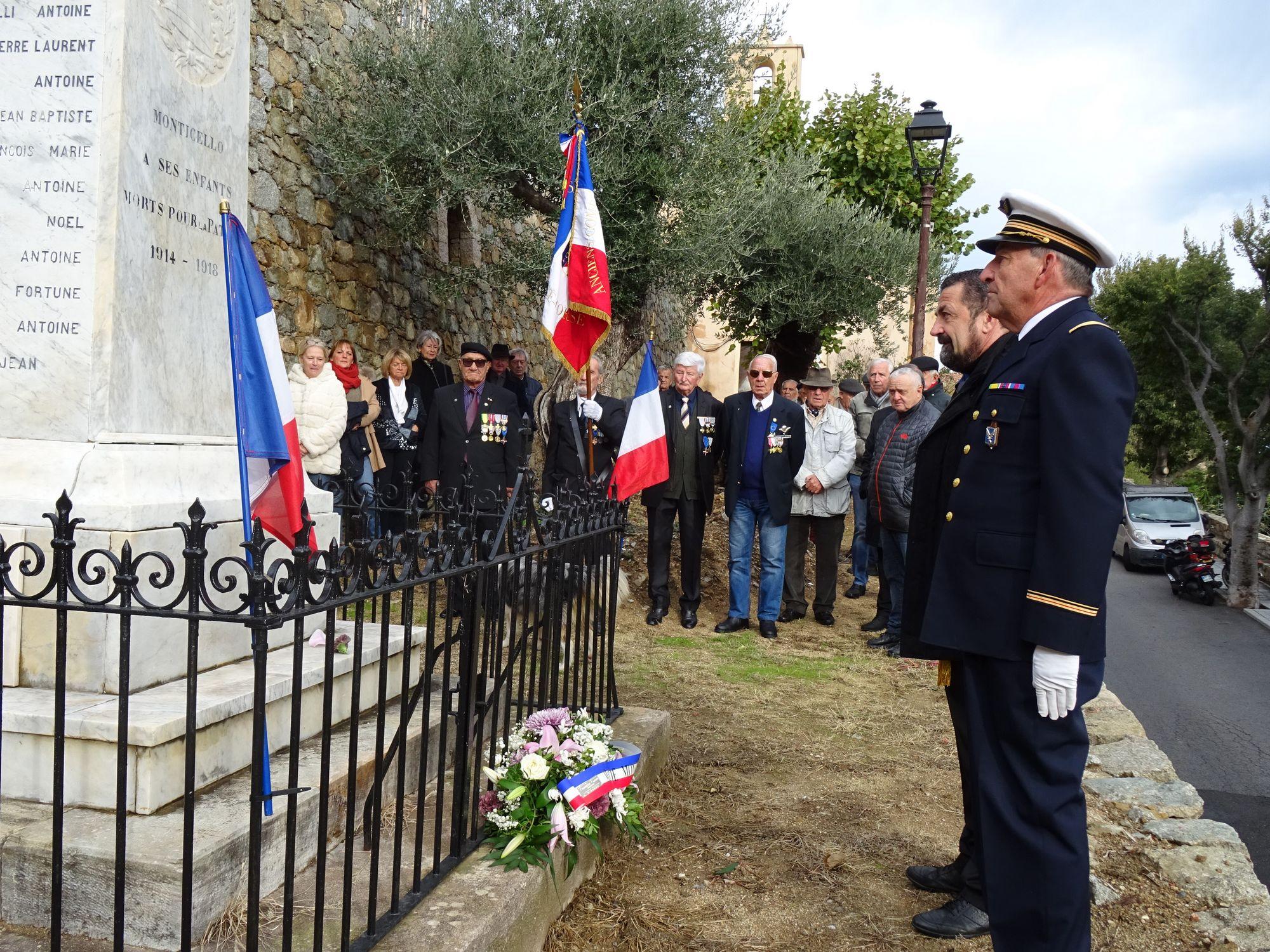 La FNACA Haute-Corse célèbre l'armistice du 11 novembre à Monticello et Santa Reparata di Balagna